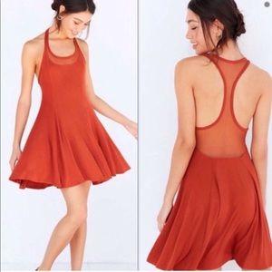 Anthropologie Silence + Noise Orange Dress Large